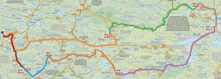 The map of our route