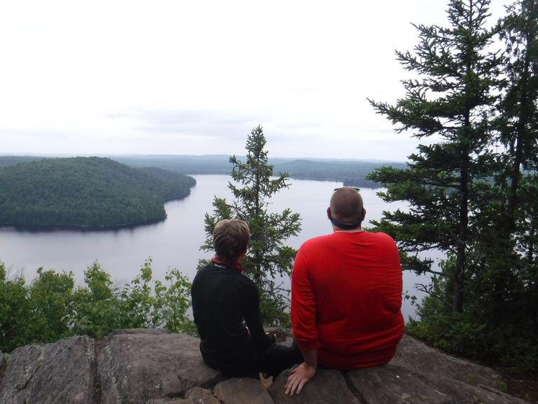 Big Crow Lake Lookout, Father and Son
