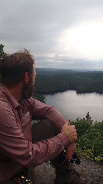 Joshua overlooking Big Crow Lake