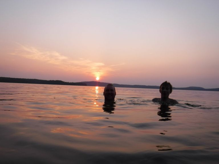 Sunset swim on Lavieille