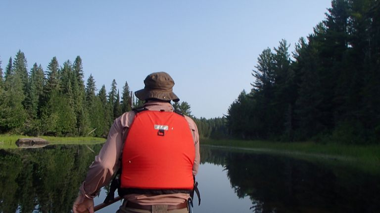 Paddling up Opeongo River